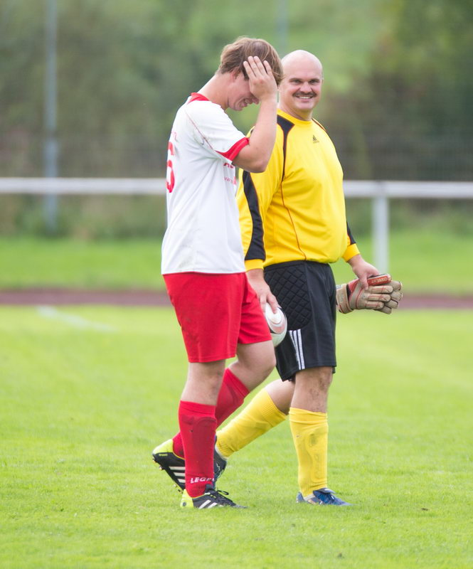 Haben gut lachen, Holger und Marco Schubert nach dem Spiel