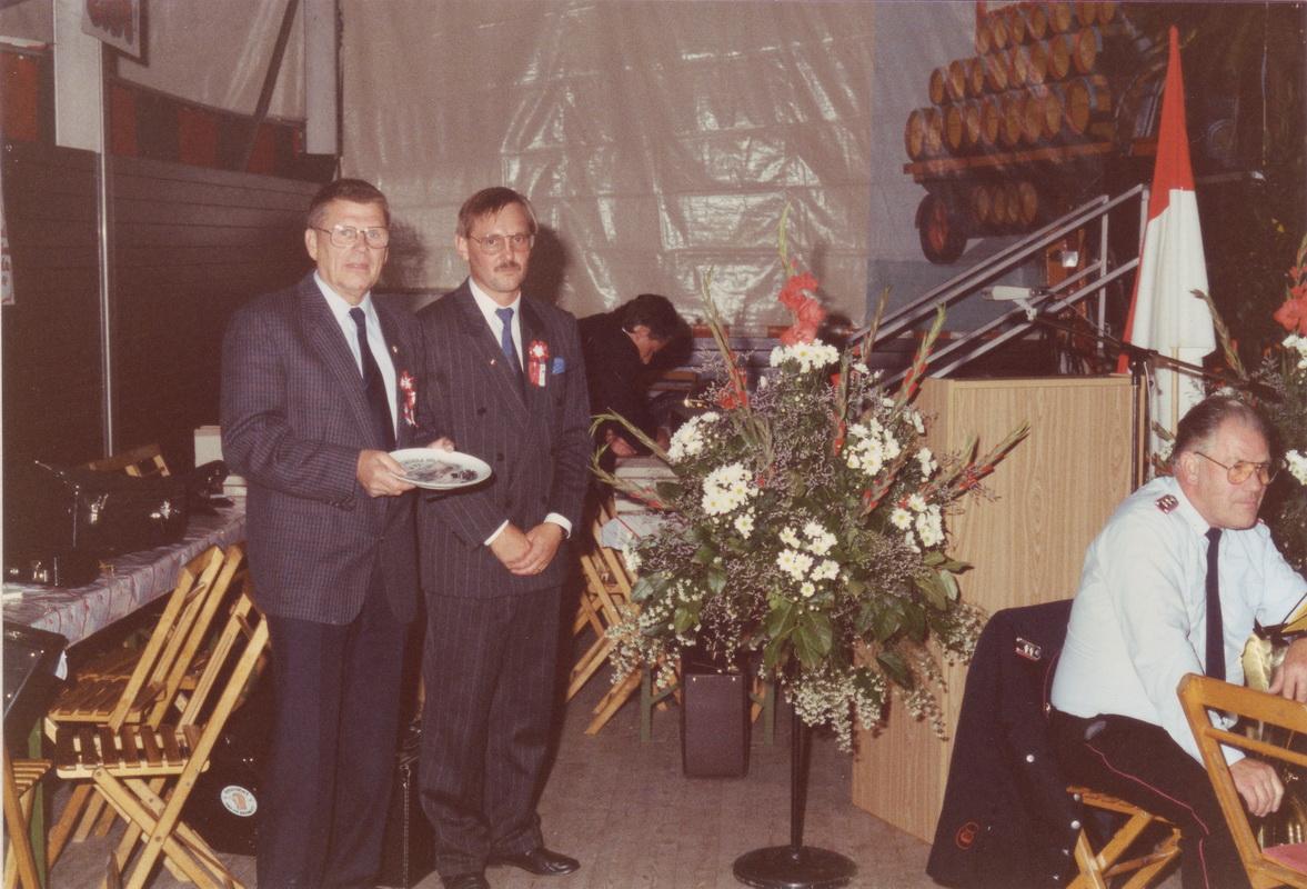 70-jähriges Jubiläum: Karl Kolle gemeinsam mit Volker Schulze (1.Vorsitzender)