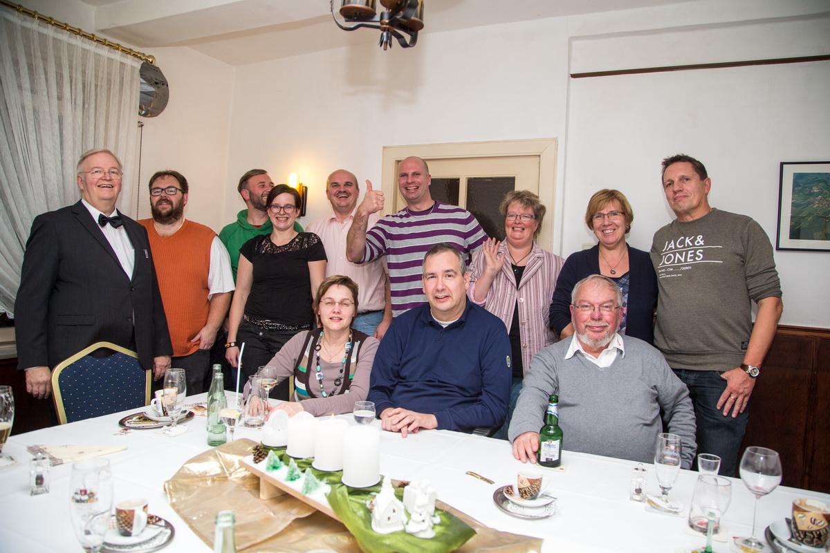 Der Vorstand des SV Freden feierte eine schöne Weihnachtsfeier bei Kurti