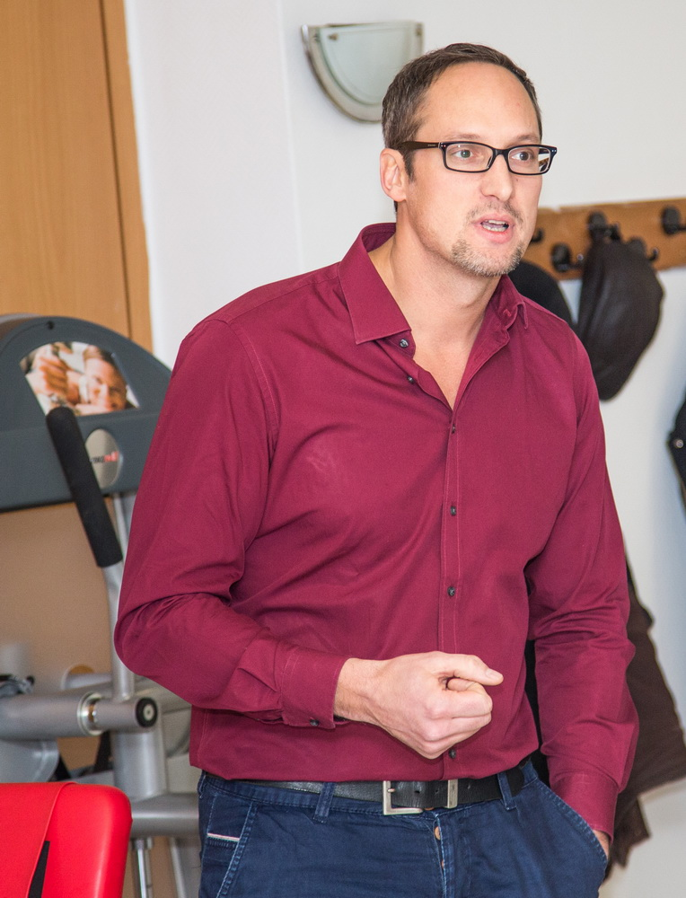 """Marcus Melching, der """"Macher"""" bzw. der maßgeblich Hauptverantwortliche für den SV Fitnessraum"""