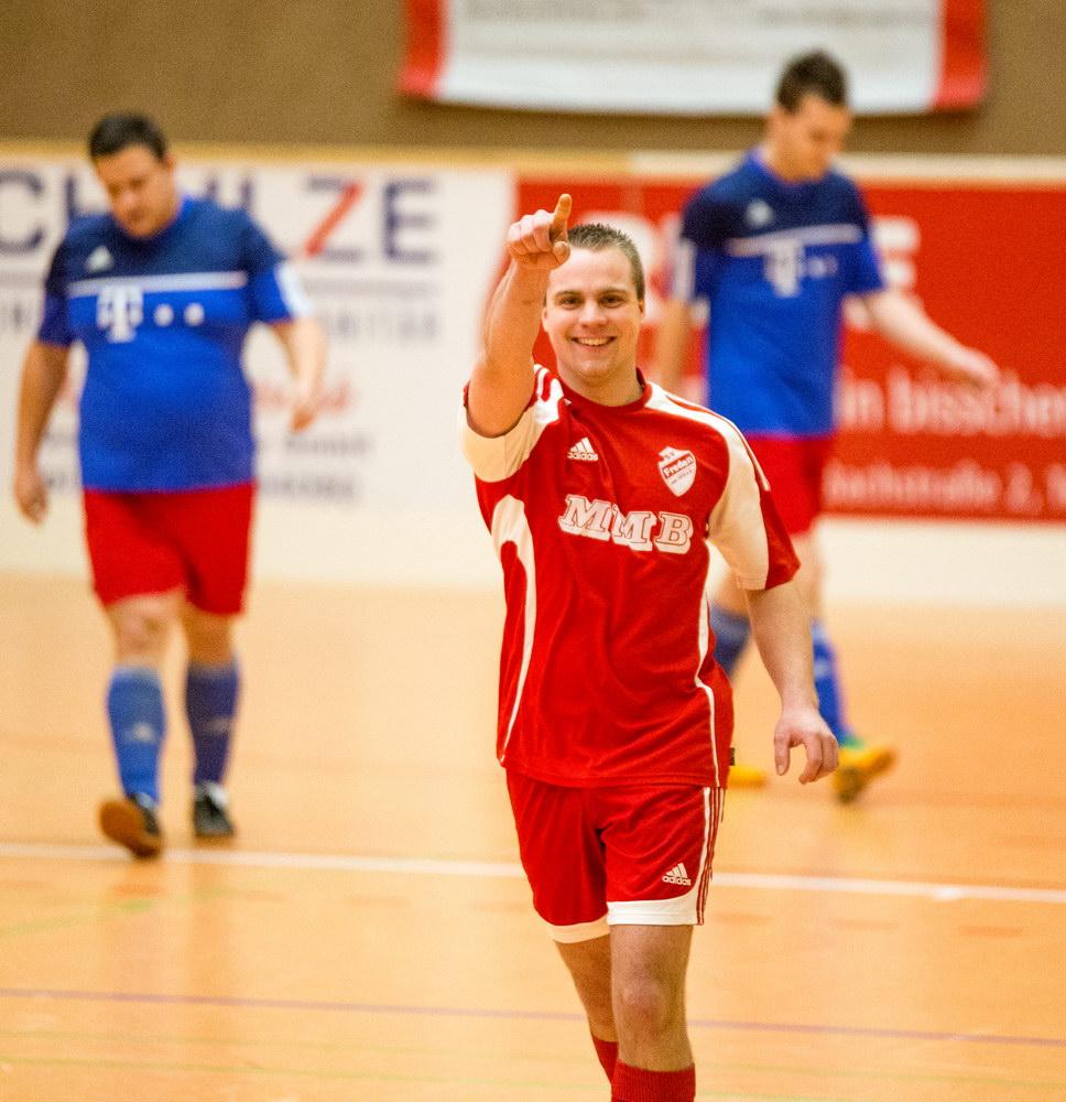 Florian Kiehne, besser bekannt unter FK 11 oder Haaabicht nach seinem ersten Treffer nach seiner Rückkehr zum SV Freden