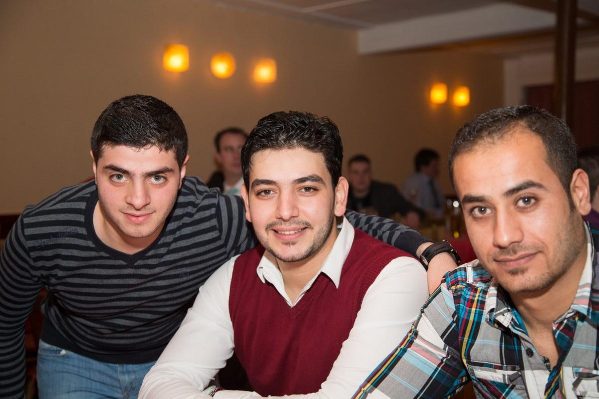 Sind erfreulicherweise ebenfalls unserer Einladung gefolgt: Eine Delegation der syrischen Flüchtlinge, die ebenfalls beim SV Freden Fußball spielen