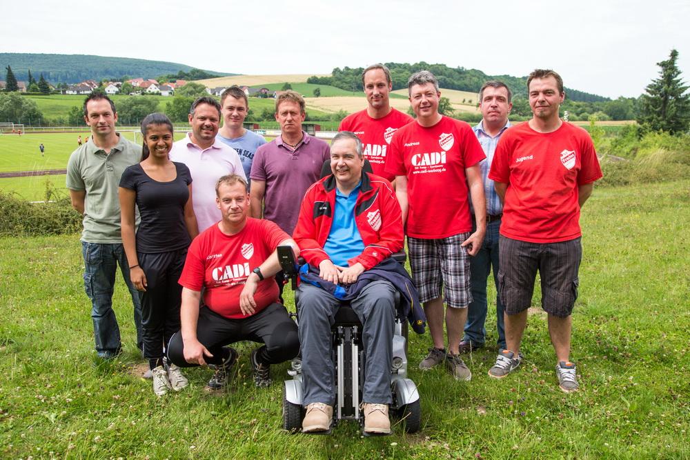 Jugendleiter Ralf Ernemann bedankt sich bei seinen Trainern