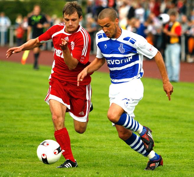 Micha im Benefizspiel gegen den MSV Duisburg