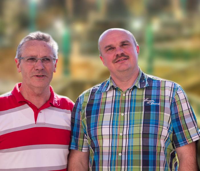 El Präsidente Holger Schubert (rechts) mit dem Ehrenvorsitzenden Wilfried Luks
