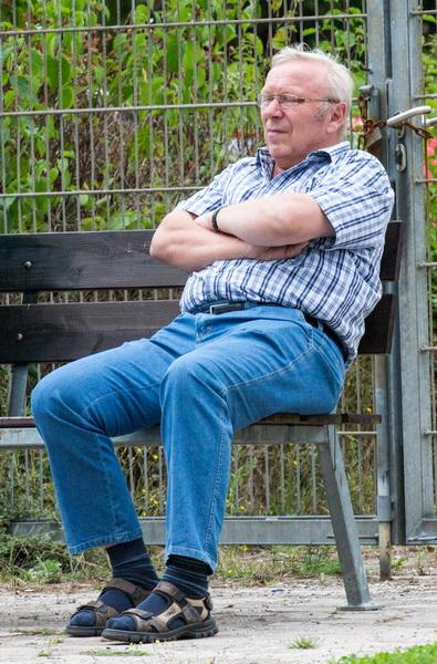 Stürmer-Legende Ernst Neugebauer verfolgte die Partie ebenfalls......