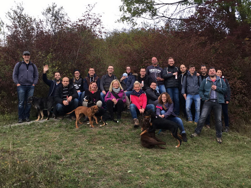 Gruppenfoto auf dem Mädgenbrink