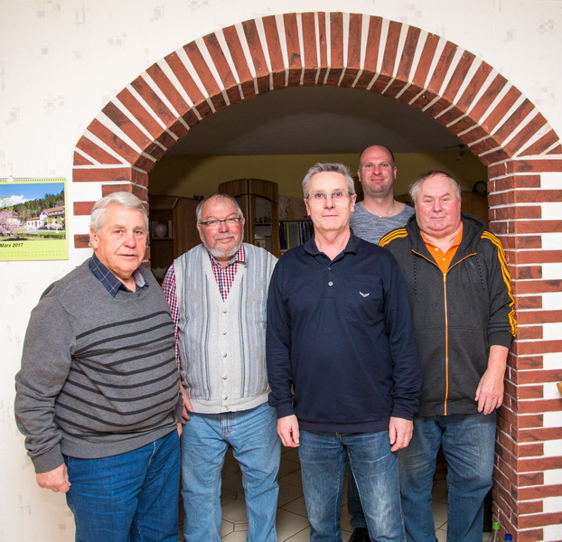 Wilfried Schreier, Käpt`n Helmut Raabe, Wilfried Luks, Tobias Kiehne, Ulf Sievers