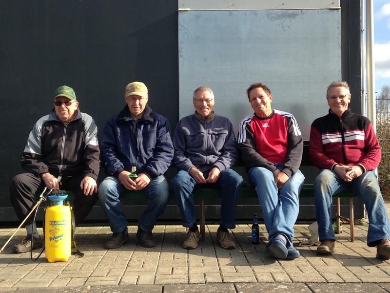 Rolf Hauenschild, Helmut Kaste, Detlef Lambrecht, Bernd Heimann und Wilfried Luks