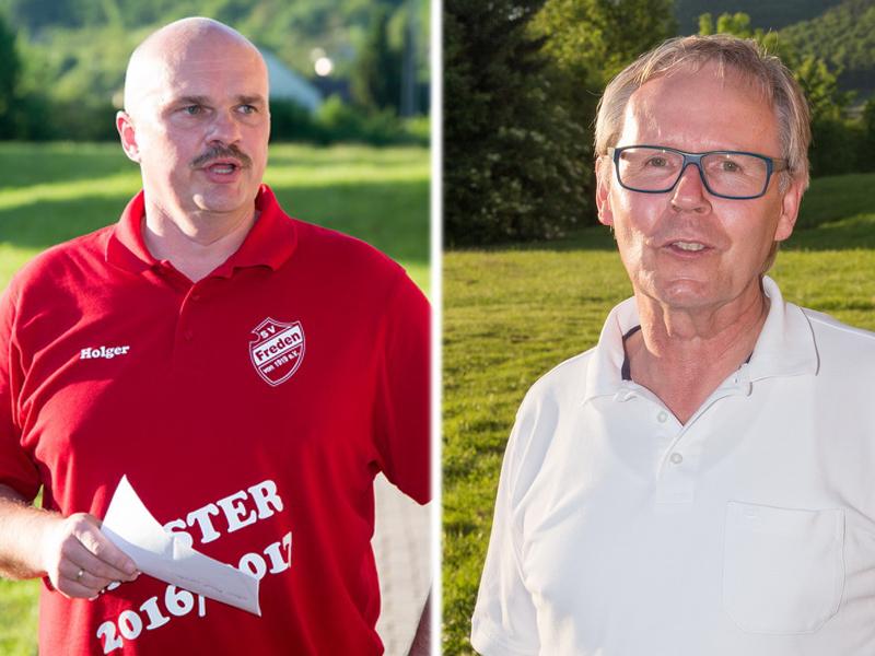 Holger Schubert (1.Vorsitzender SV Freden) & Wolfgang Heimann (Gemeindebürgermeister)