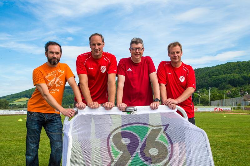 Tolles Gespann: Paul, Marcus, Andreas und Carsten hatten alle Hände voll zu tun um dieses Großevent zu managen.....