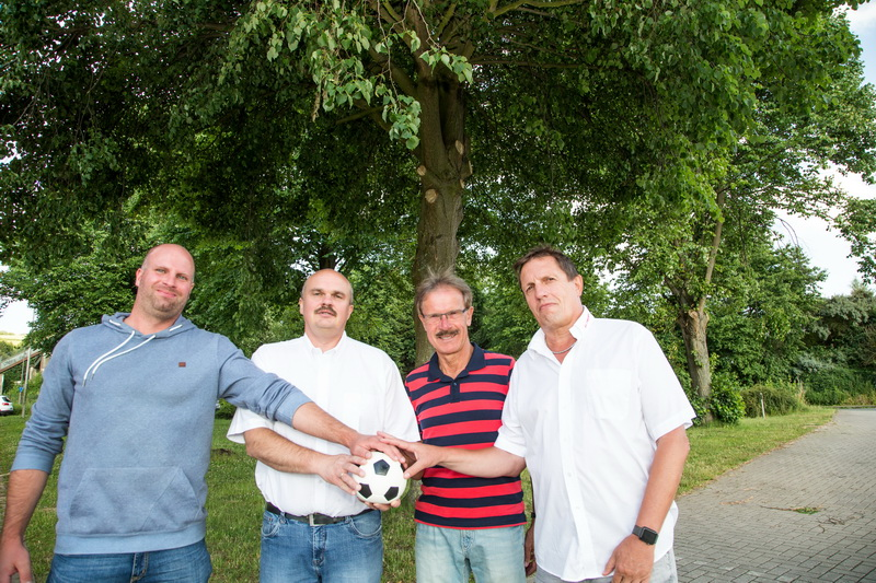 Wollen den Verein fit machen für die Zukunft .... Tobias Kiehne, Holger Schubert, Siggi Kraft und Bernd Heimann